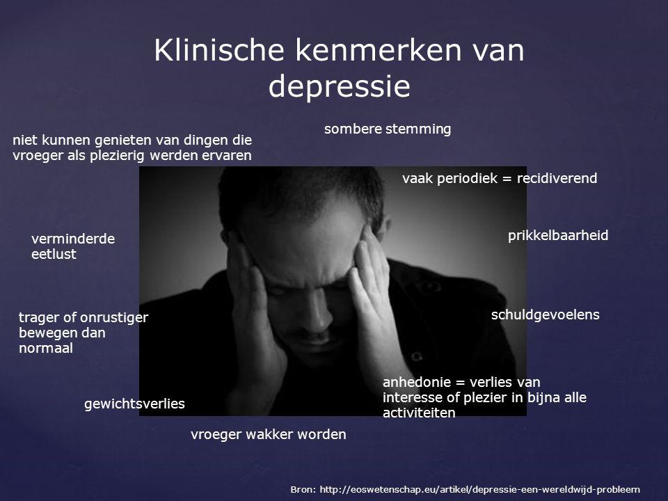 Klinische kenmerken van depressie