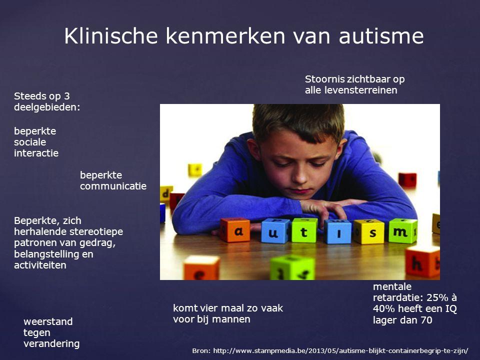 Klinische kenmerken van autisme
