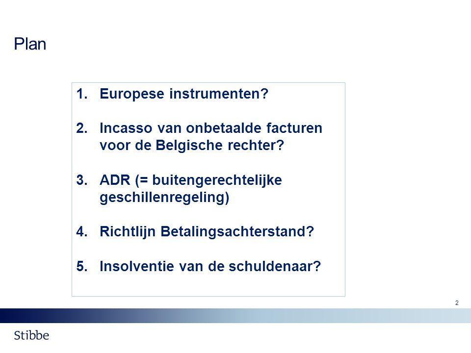 Plan Europese instrumenten