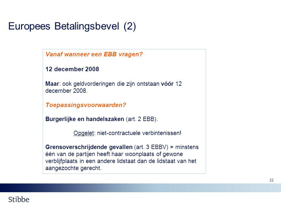 Europees Betalingsbevel (2)