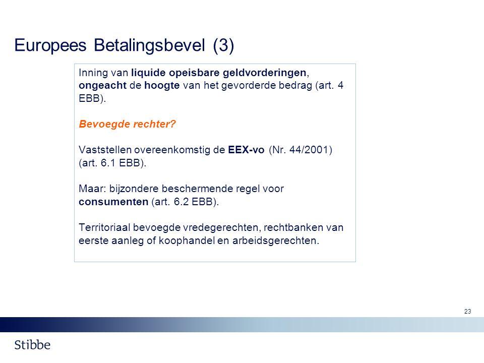 Europees Betalingsbevel (3)