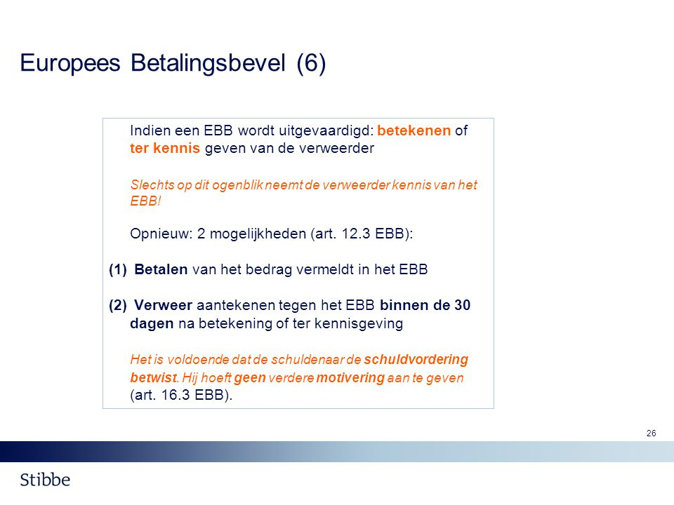 Europees Betalingsbevel (6)