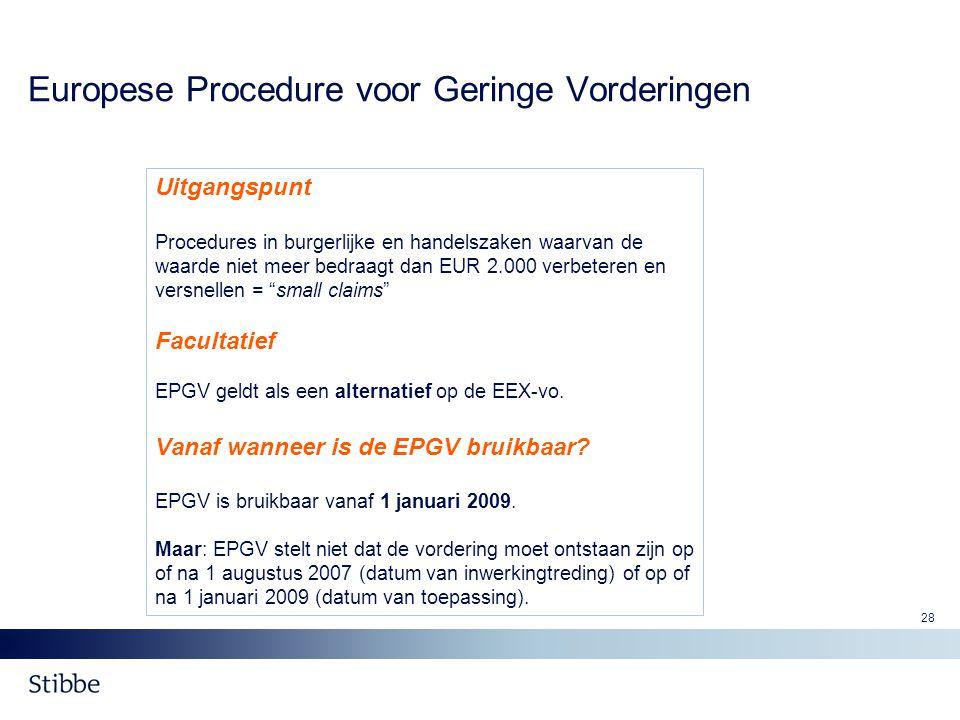 Europese Procedure voor Geringe Vorderingen