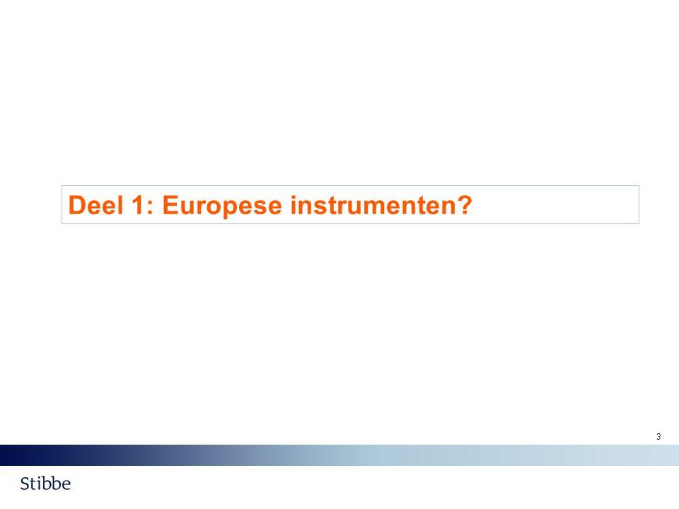 Deel 1: Europese instrumenten