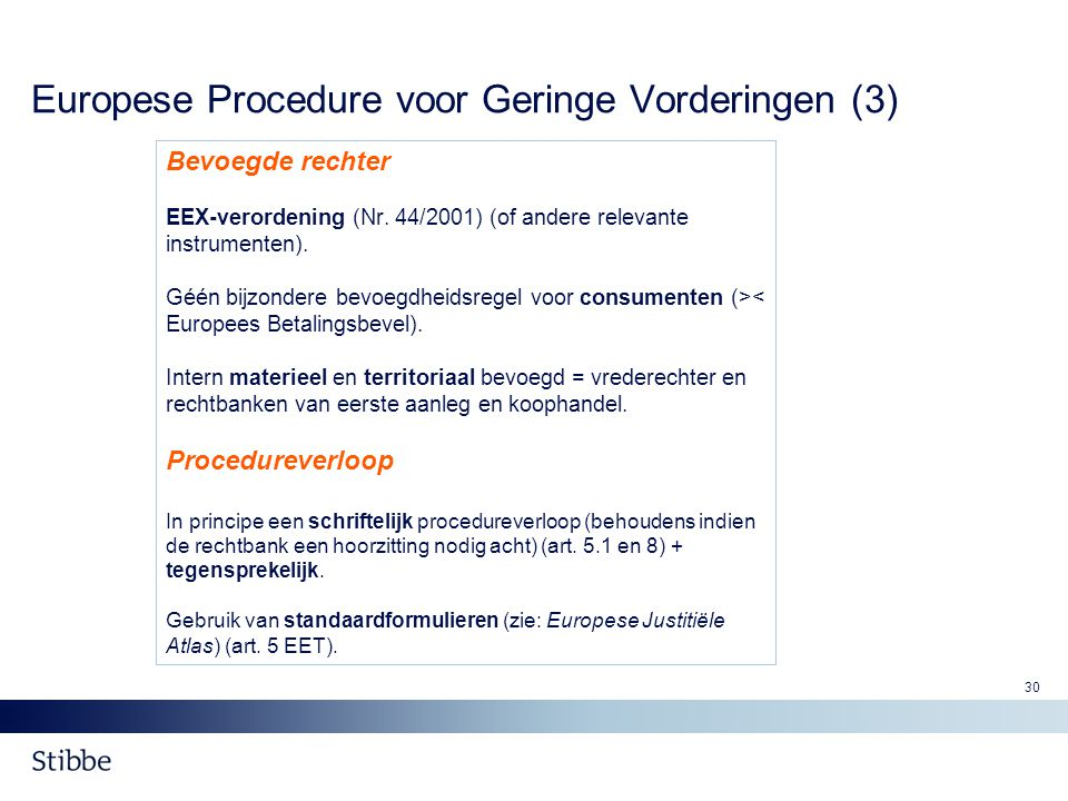 Europese Procedure voor Geringe Vorderingen (3)