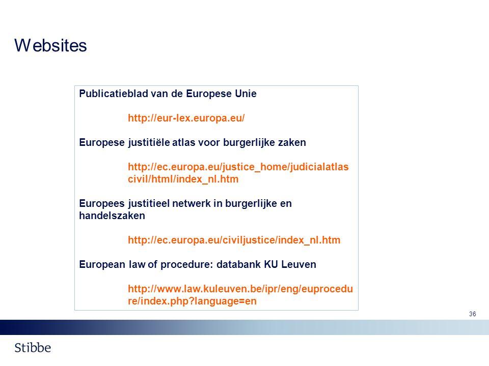 Websites Publicatieblad van de Europese Unie http://eur-lex.europa.eu/