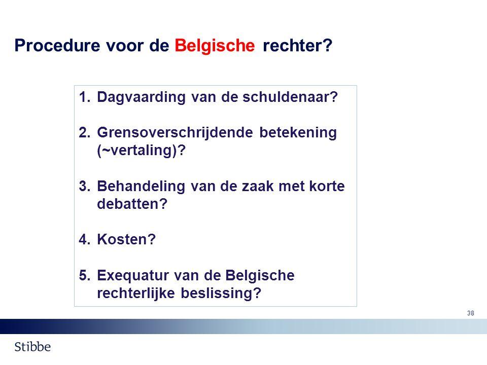 Procedure voor de Belgische rechter