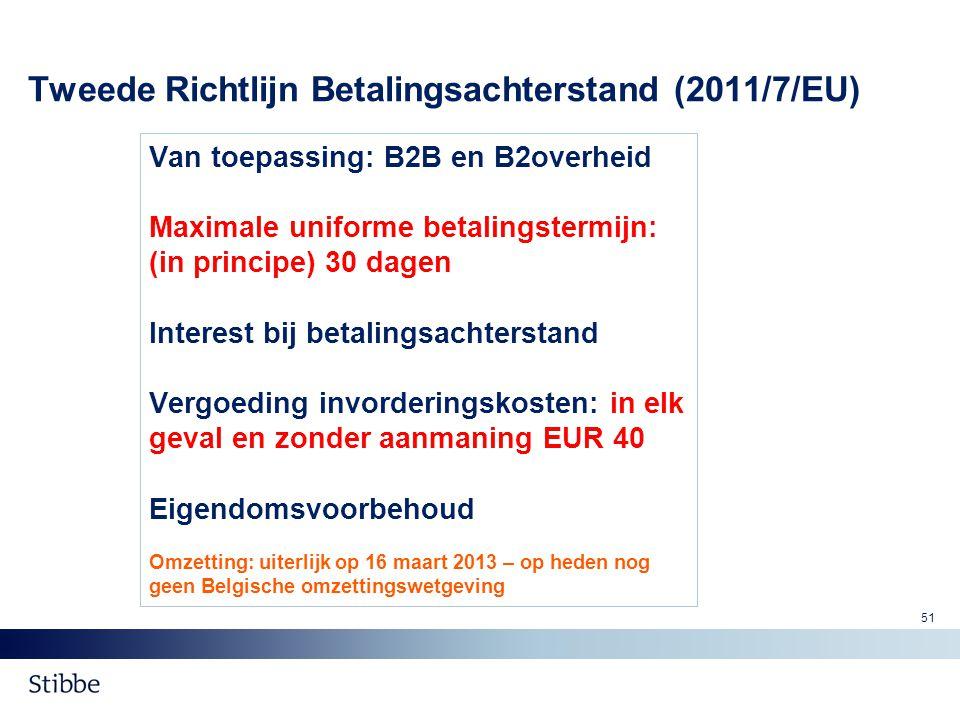 Tweede Richtlijn Betalingsachterstand (2011/7/EU)