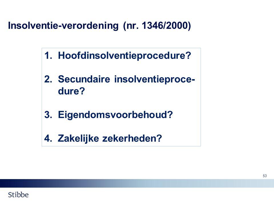 Insolventie-verordening (nr. 1346/2000)