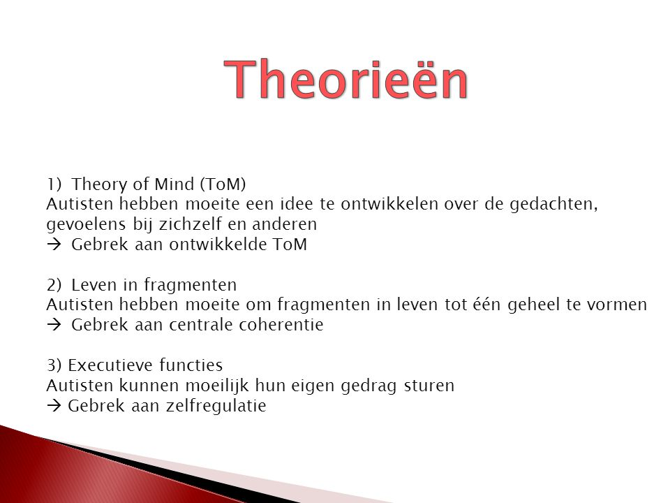 Theorieën Theory of Mind (ToM)