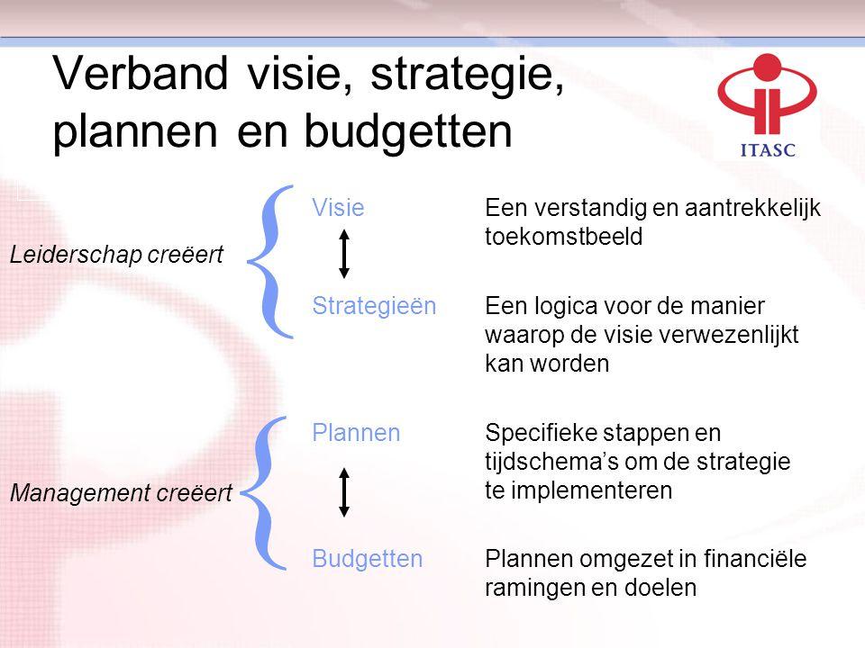 Verband visie, strategie, plannen en budgetten