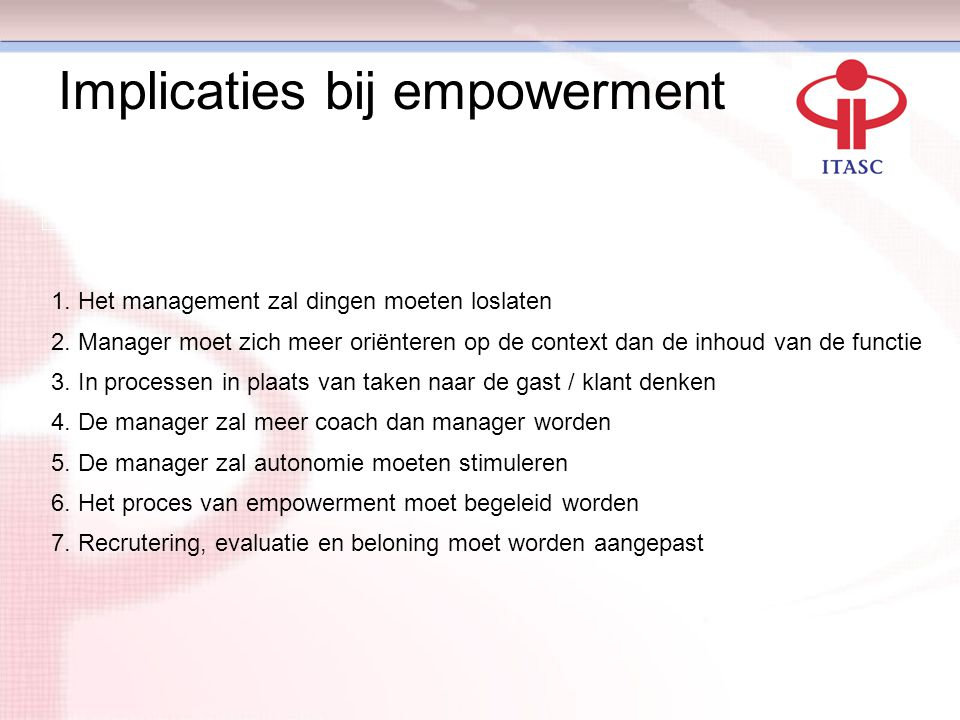 Implicaties bij empowerment