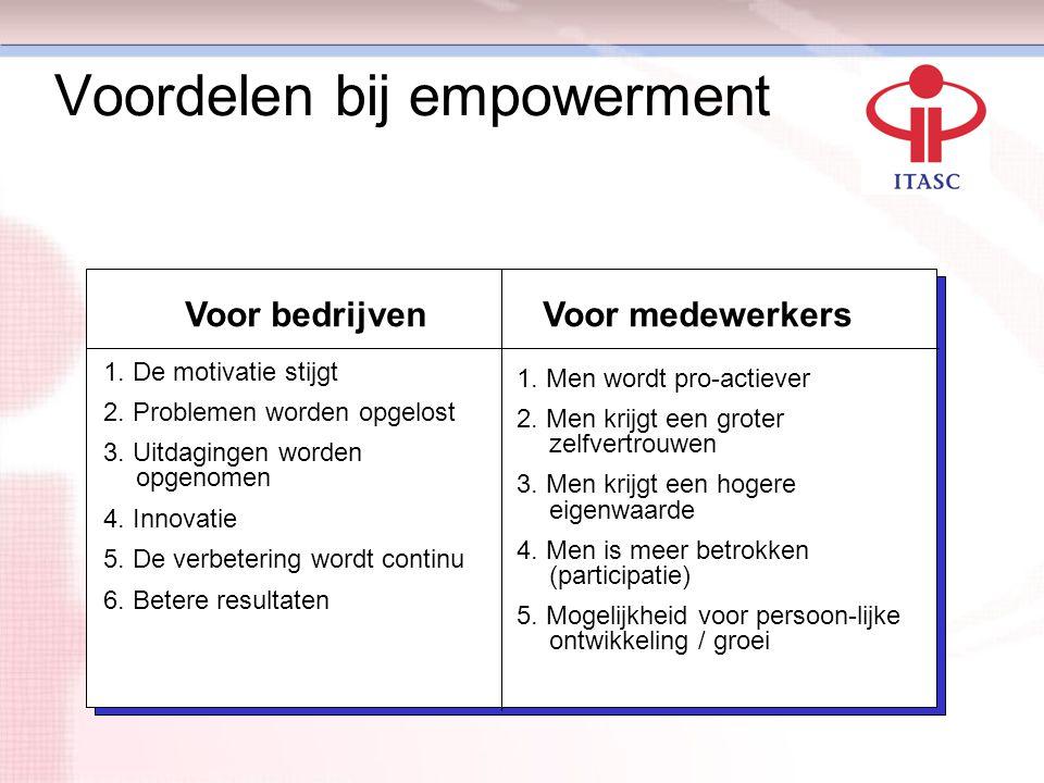 Voordelen bij empowerment