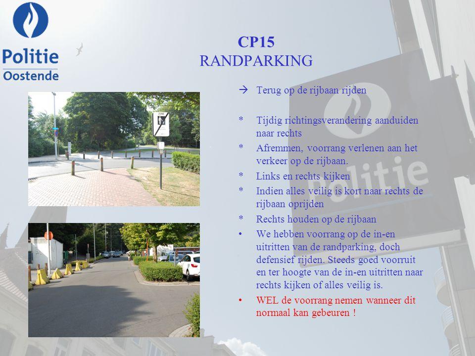 CP15 RANDPARKING Terug op de rijbaan rijden