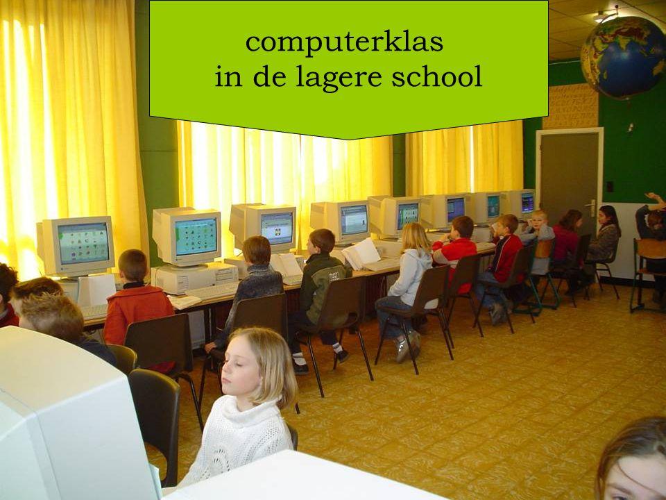 computerklas in de lagere school