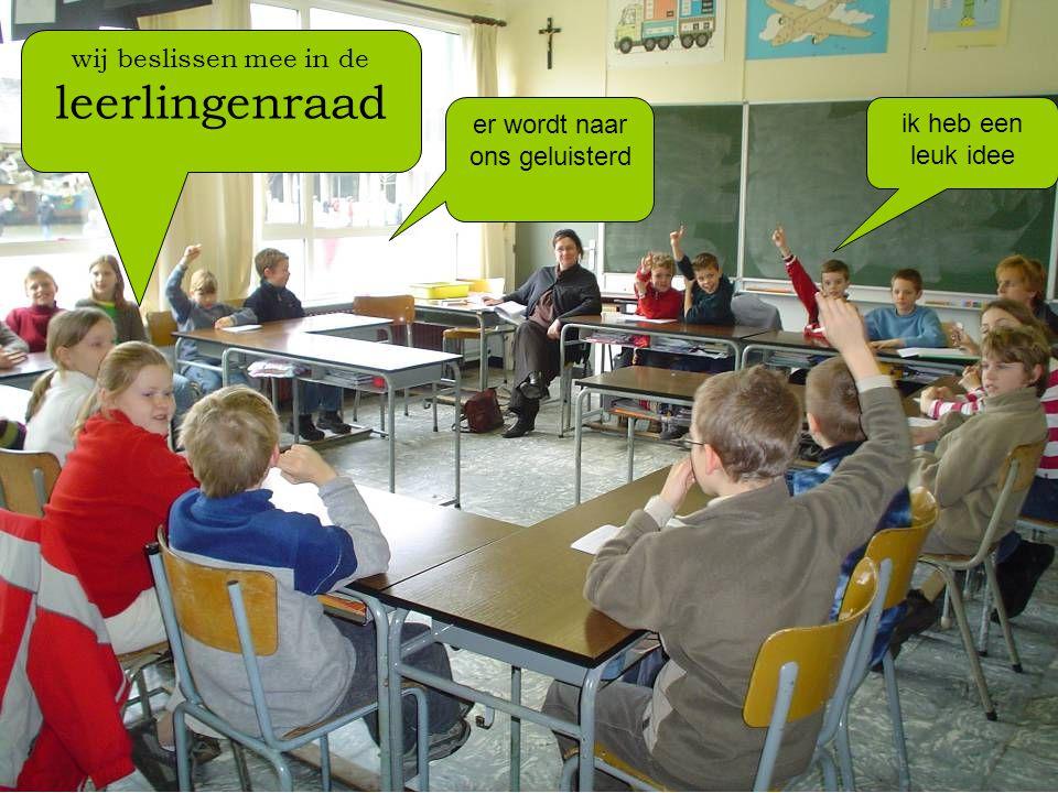 wij beslissen mee in de leerlingenraad