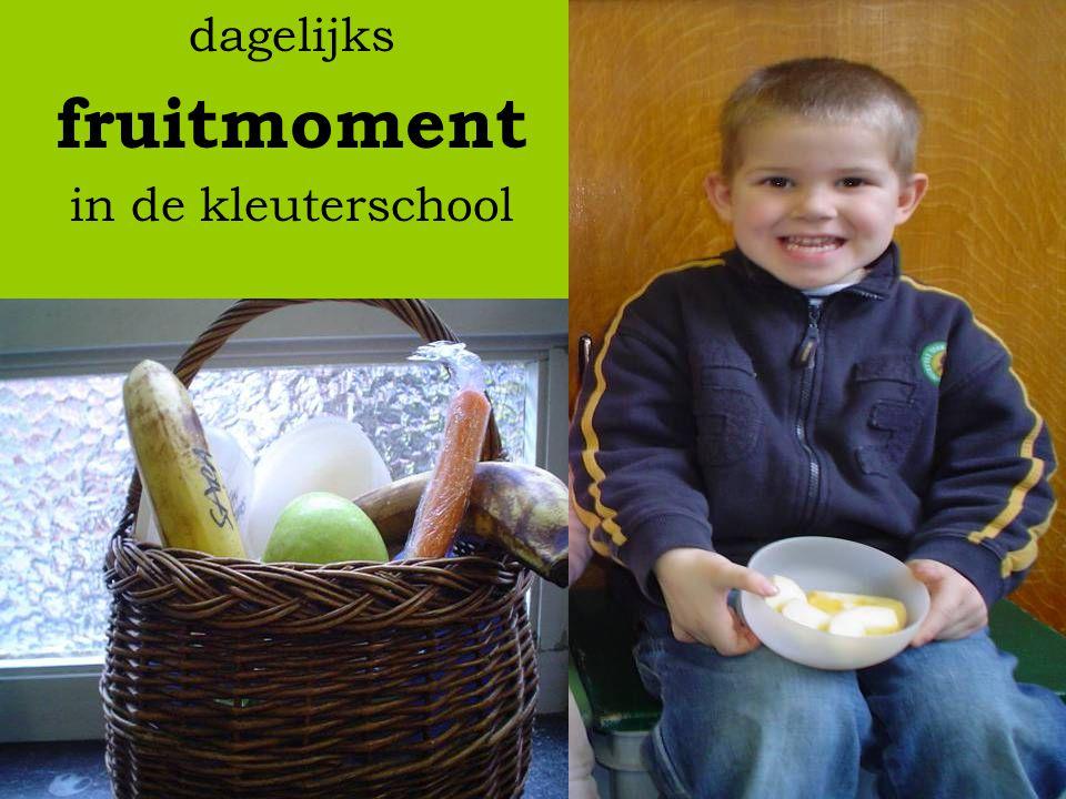 dagelijks fruitmoment in de kleuterschool