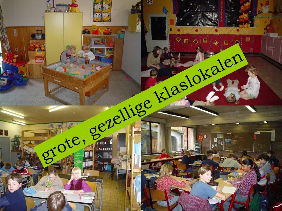 grote, gezellige klaslokalen