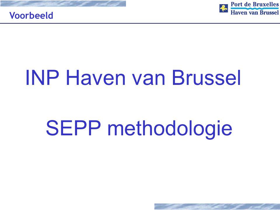 Voorbeeld INP Haven van Brussel SEPP methodologie