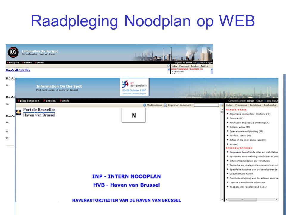 Raadpleging Noodplan op WEB