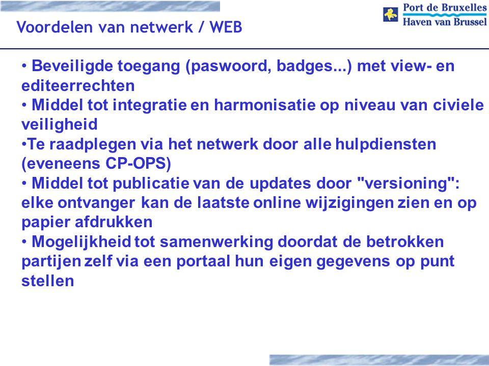 Voordelen van netwerk / WEB