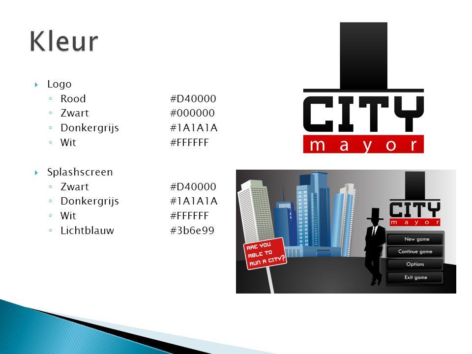 Kleur Logo Rood #D40000 Zwart #000000 Donkergrijs #1A1A1A Wit #FFFFFF
