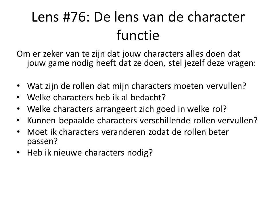 Lens #76: De lens van de character functie