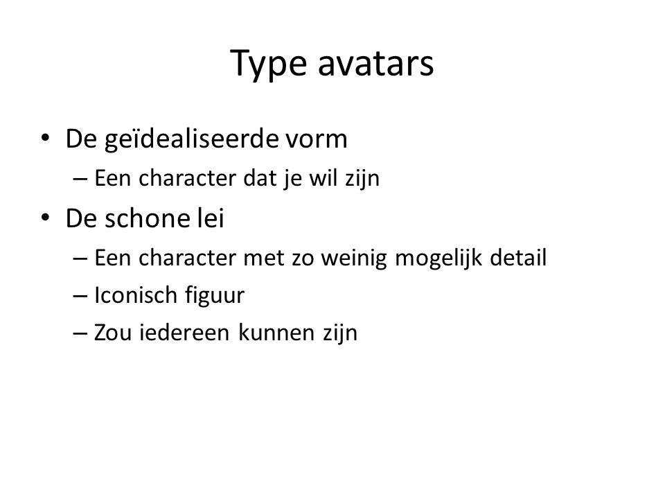 Type avatars De geïdealiseerde vorm De schone lei