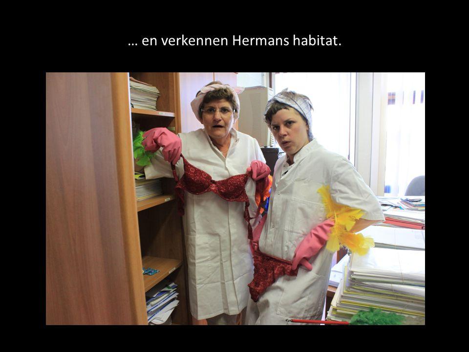 … en verkennen Hermans habitat.
