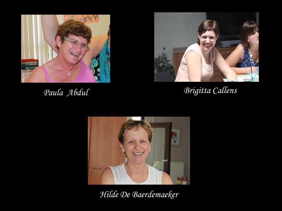 Brigitta Callens Paula Abdul Hilde De Baerdemaeker