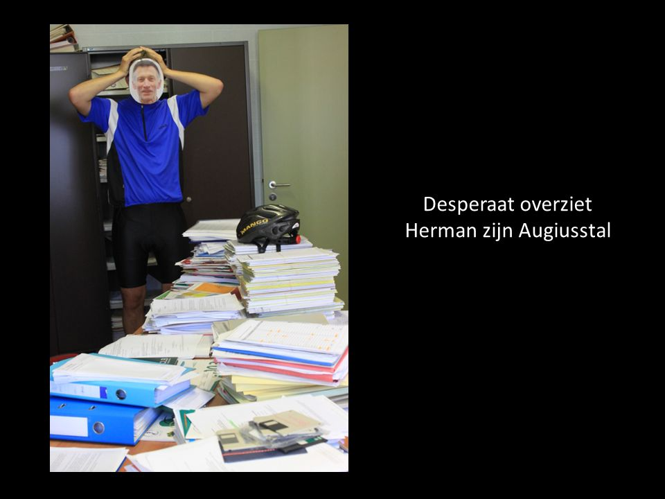 Desperaat overziet Herman zijn Augiusstal