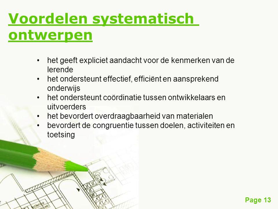 Voordelen systematisch ontwerpen