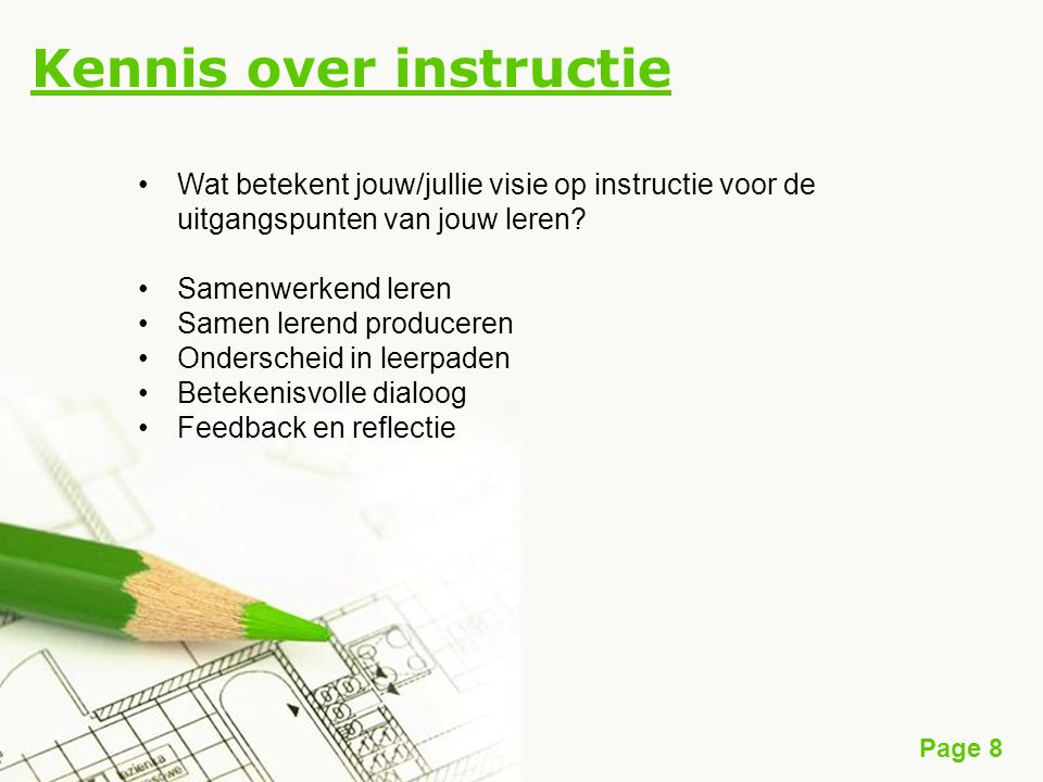 Kennis over instructie