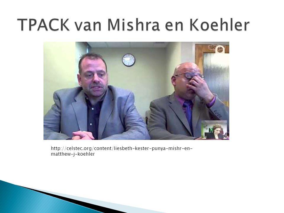 TPACK van Mishra en Koehler