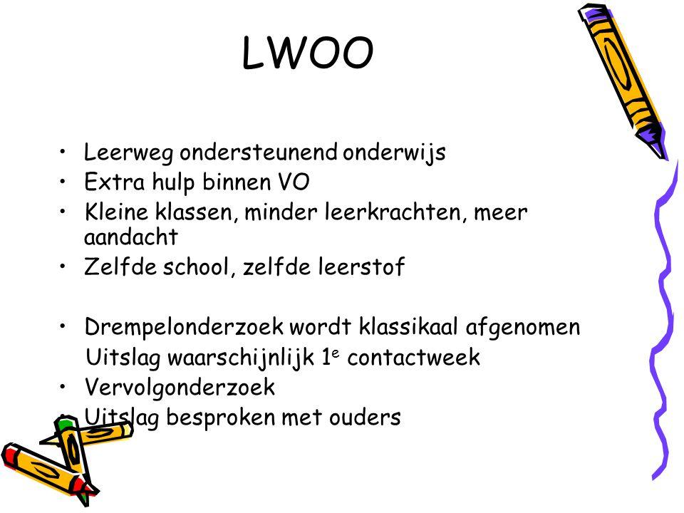 LWOO Leerweg ondersteunend onderwijs Extra hulp binnen VO