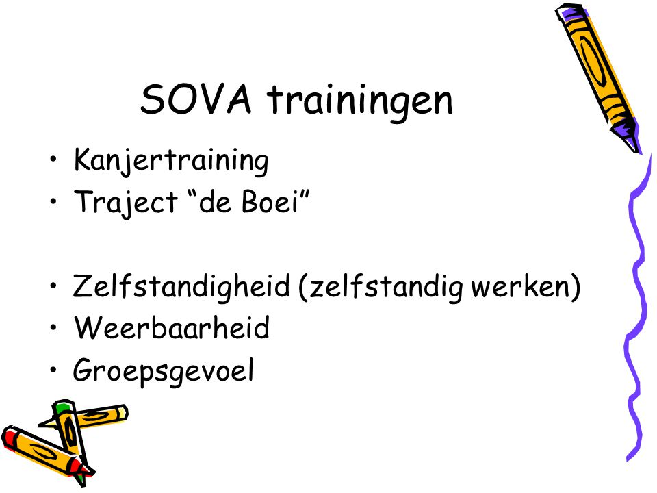 SOVA trainingen Kanjertraining Traject de Boei