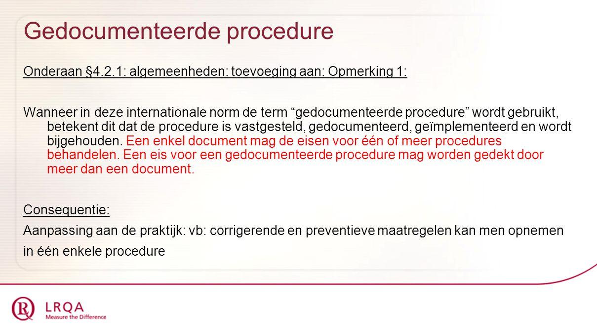 Gedocumenteerde procedure
