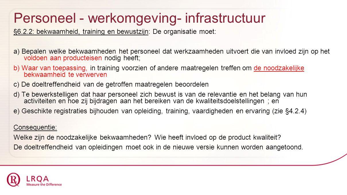 Personeel - werkomgeving- infrastructuur