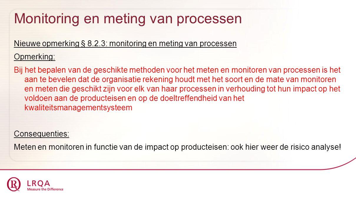 Monitoring en meting van processen