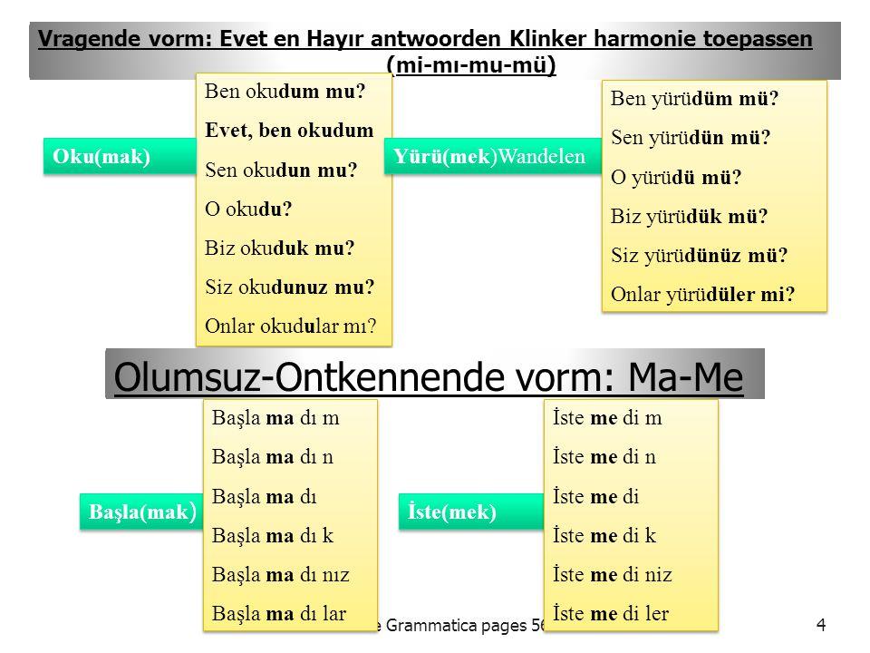 Olumsuz-Ontkennende vorm: Ma-Me