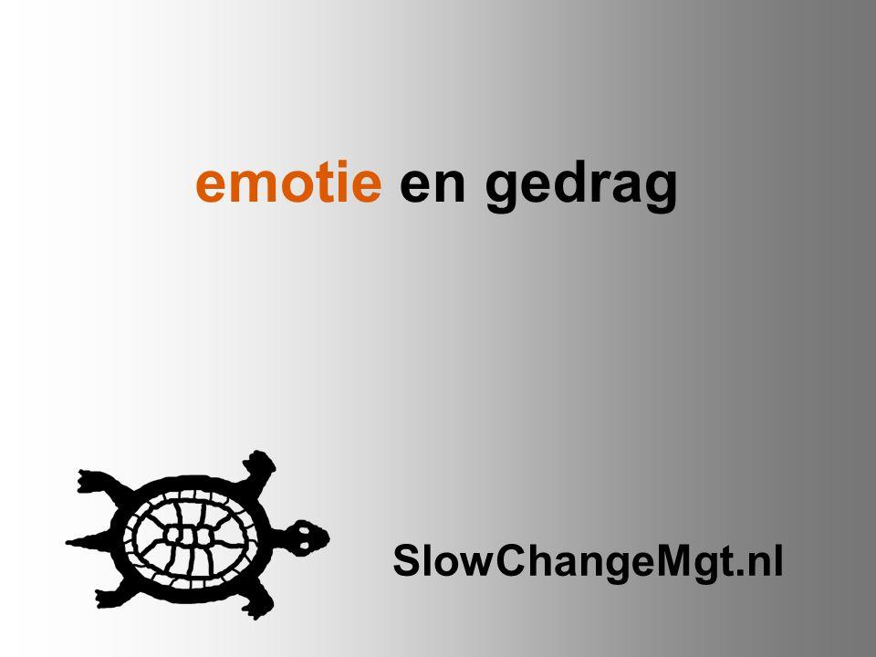 emotie en gedrag SlowChangeMgt.nl