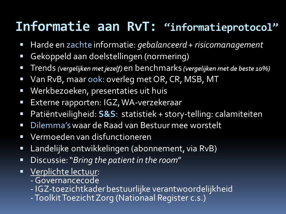 Informatie aan RvT: informatieprotocol