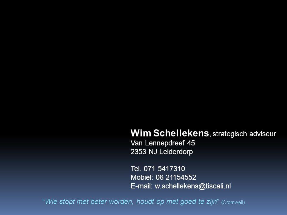 Wim Schellekens, strategisch adviseur