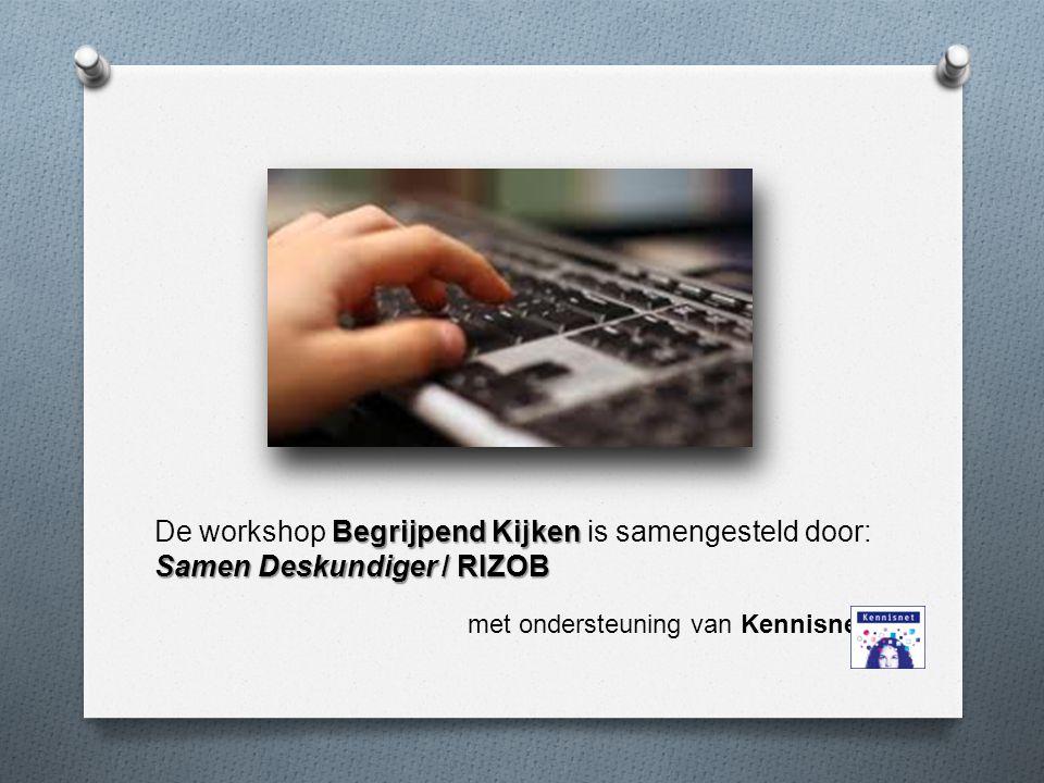 De workshop Begrijpend Kijken is samengesteld door: