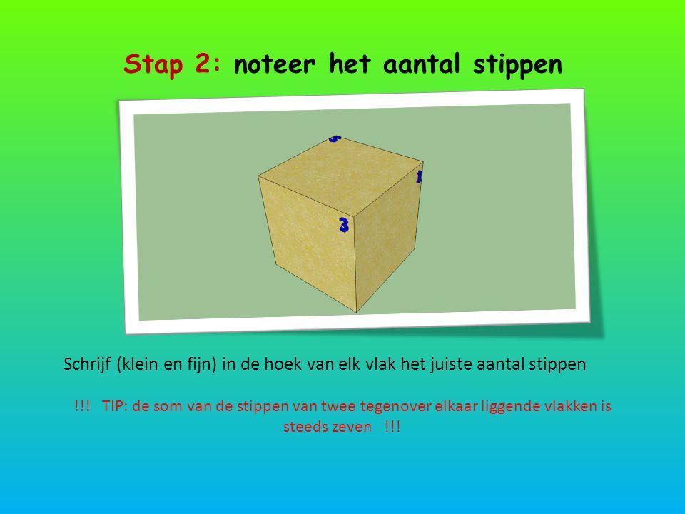 Stap 2: noteer het aantal stippen