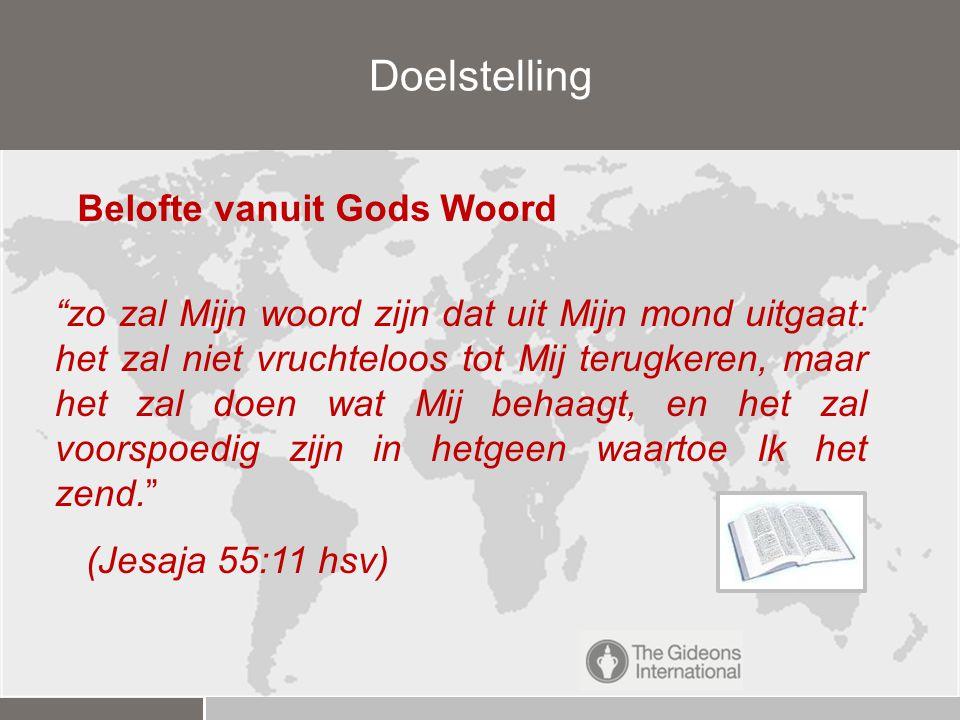 Doelstelling Belofte vanuit Gods Woord