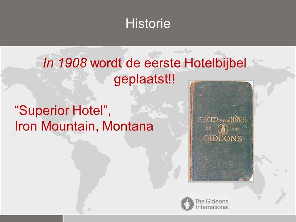 In 1908 wordt de eerste Hotelbijbel