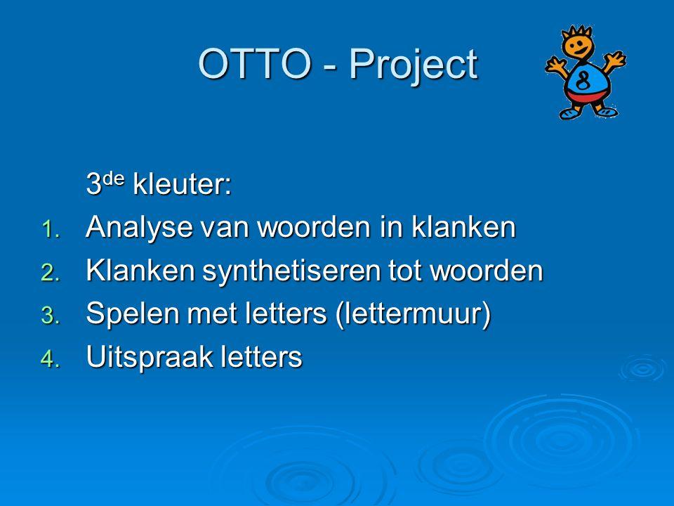 OTTO - Project 3de kleuter: Analyse van woorden in klanken