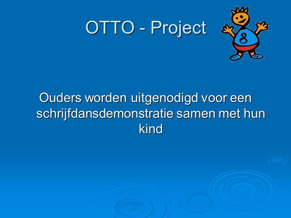 OTTO - Project Ouders worden uitgenodigd voor een schrijfdansdemonstratie samen met hun kind