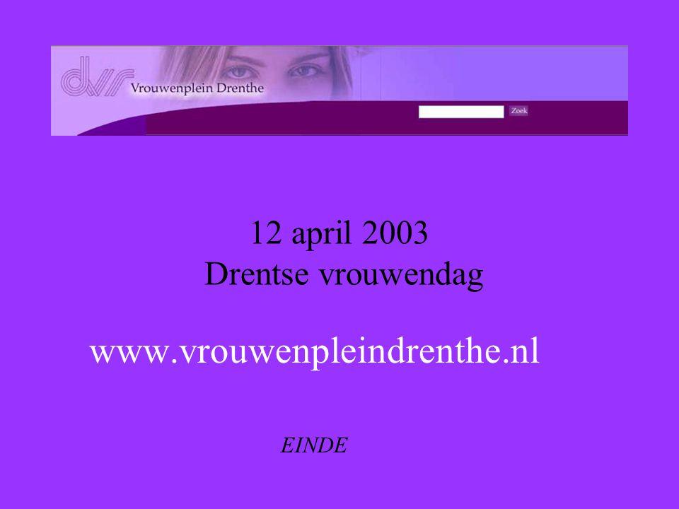 12 april 2003 Drentse vrouwendag